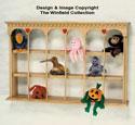 Bean Bag Animal Shelf Woodcraft Pattern