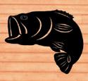 Giant Bass Shadow Woodcraft Pattern