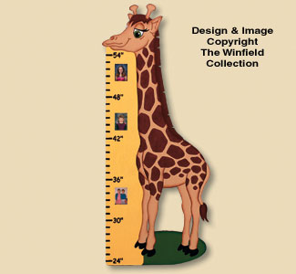 Giraffe Growth Chart Woodcrafting Plan