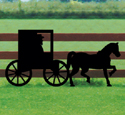 Large Amish Buggy Shadow Wood Pattern