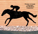 Horse Racer Shadow Woodcraft Pattern