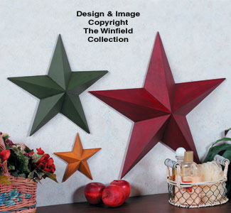 Wooden Stars Woodcraft Project Pattern