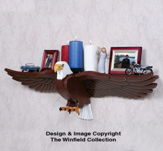 Majestic Eagle Shelf Woodcrafting Pattern