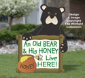 Old Bear Yard Sign Woodcraft Project Plan