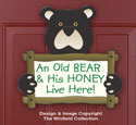 Old Bear Door Sign Woodcraft Pattern