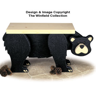 Black Bear Bench Woodworking Plan