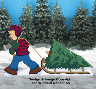 Christmas Tree Harvest Woodcraft Pattern