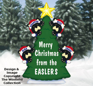 Personalized Christmas Tree Wood Pattern