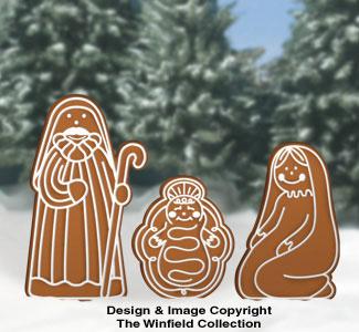 Gingerbread Nativity Woodcraft Pattern