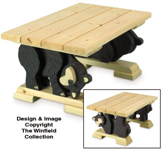 Black Bear Coffee Table Woodworking Plan