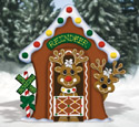 Gingerbread Reindeer Stable Wood Pattern