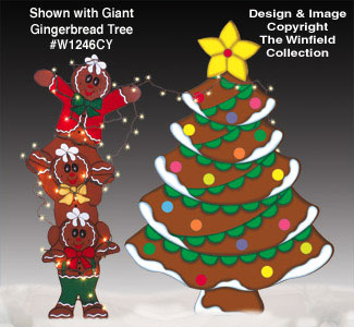 Tangled Gingerbread Men Wood Pattern