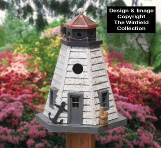 Birdhouse Wood Patterns Rustic Lighthouse Birdhouse Wood