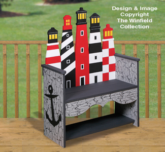 Lighthouse Bench Woodworking Pattern