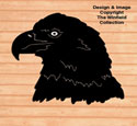 Giant Eagle Head Shadow Wood Pattern