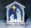Glowing White Nativity Woodcraft Pattern