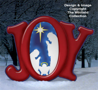 Lighted Christmas Glowing Joy Nativity Woodcraft Pattern