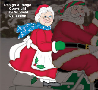 Riding Mrs. Claus Woodcraft Pattern