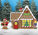 Gingerbread Santa & House  Woodcraft Pattern