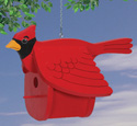 Cardinal Birdhouse Woodworking Pattern