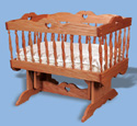 Glider Baby Cradle Woodworking Pattern