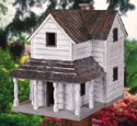 Rustic Country Home Birdhouse Wood Pattern
