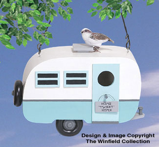 Travel Trailer Birdhouse Woodcrafting Pattern