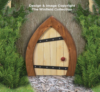 Yard art woodcraft plans large gnome door woodcrafting for Large gnome doors