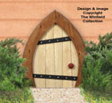 Small Garden Gnome Door Woodcraft Pattern