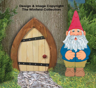 Mini Gnome & Door Woodcrafting Pattern
