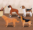 Desk Dog Pattern Set 1 Wood Plan
