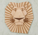 Majestic Lion Wall Hanging Wood Pattern