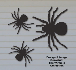 Large Plywood Spiders Woodcrafting Pattern