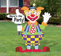 Clown Party Sign Woodcraft Pattern