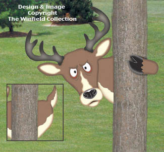 Peeking Deer Woodcraft Project Pattern