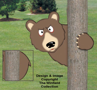 Peeking Bear Woodcraft Project Pattern