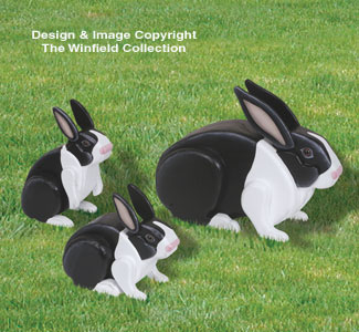 3D Life-Size Rabbits Woodcraft Pattern