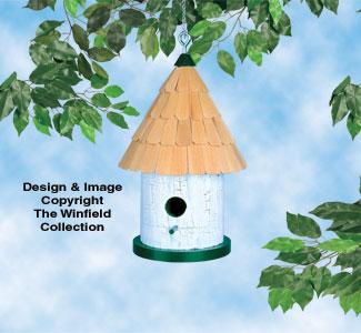Round Birdhouse Woodcraft Plan