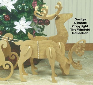 Medium/Small White Reindeer Pattern