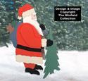 Standing Santa Woodcraft Pattern