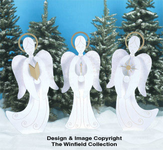 Caroling Angels Woodcraft Pattern