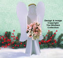 Small Poinsettia Angel Wood Pattern