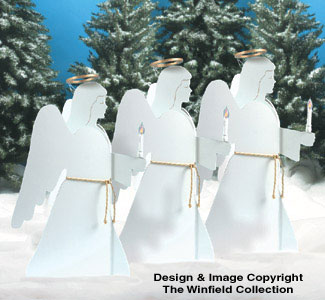 Candlelight Angels Woodcraft Pattern