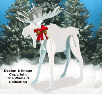 Large Christmas Moose Pattern