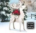 Reindeer Poinsettia Insert Pattern