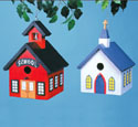 Church & School Birdhouse Wood Project Plan