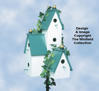 Triple Tower Birdhouse Woodcraft Plan