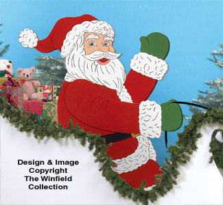 Gigantic Santa Wood Pattern