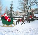 Large Sleigh, Santa & Reindeer Pattern Set