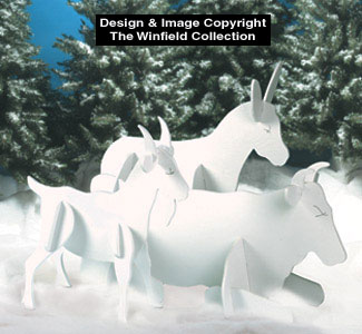 Nativity Animals Woodcraft Pattern